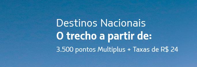 Comprar Passagens LATAM - 3.500 pontos Multiplos + Taxas de R$24