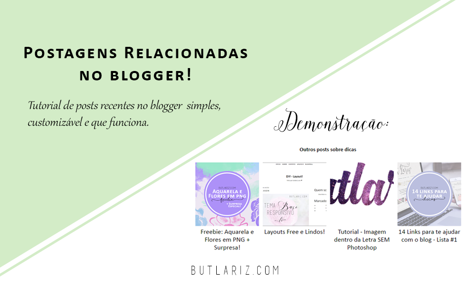 Postagens Relacionadas no blogger 2016