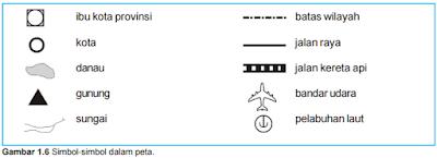 contoh simbol dalam peta