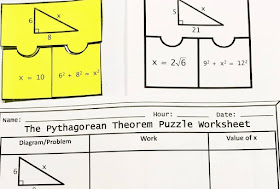 Pythagorean Theorem puzzle activity