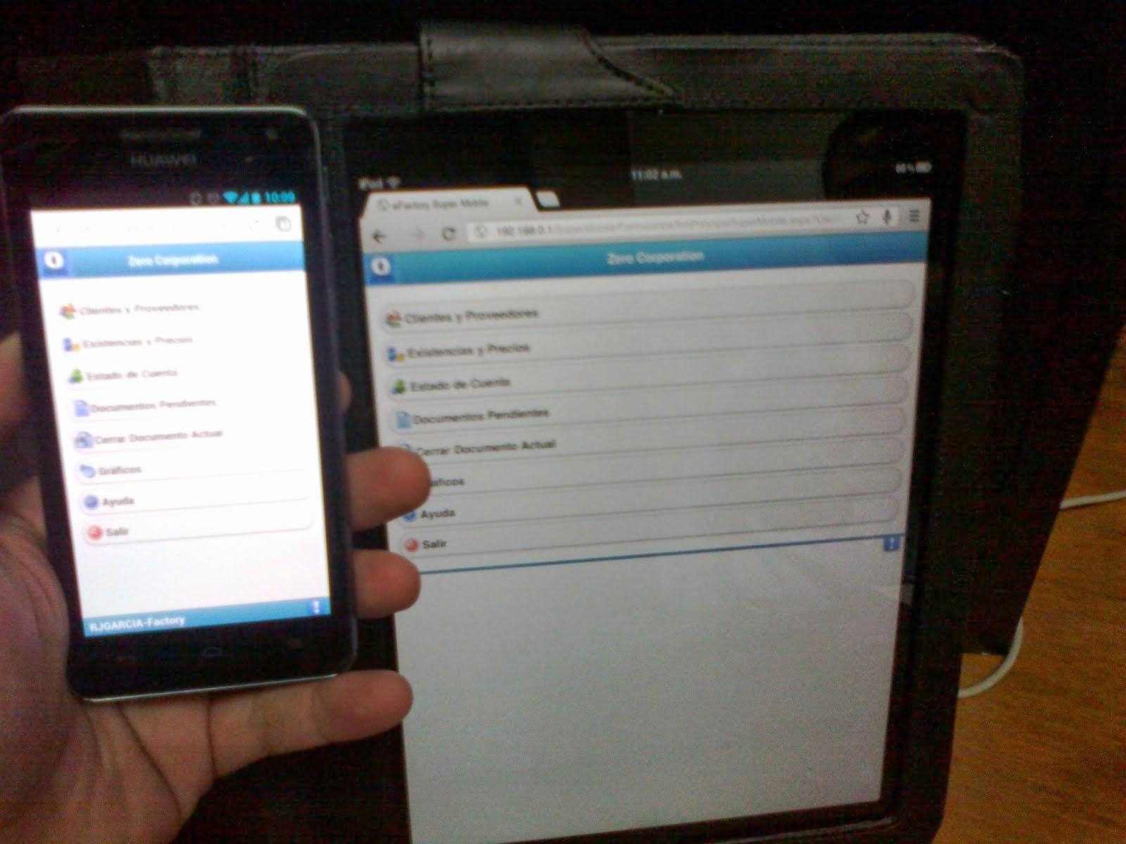 eFactory Super Mobile - Productos Web de eFactory para Móviles y Tabletas