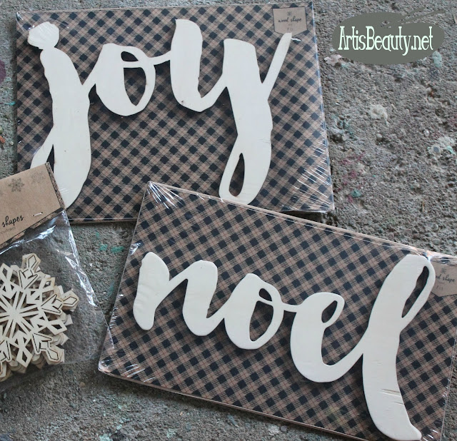 wood joy and noel cut out words diy craft target