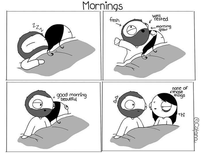 19 Hilarious Comics Describing A Couple's Everyday Moments