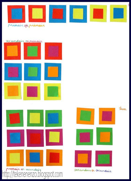 kunstenaar primaire kleuren