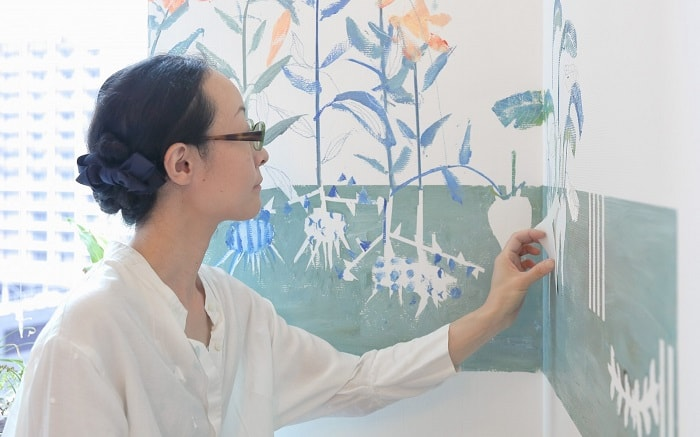 No. 16 Park Hotel Tokyo Artist Room 'The 47 Vegetables' designed by Mayako Nakamura