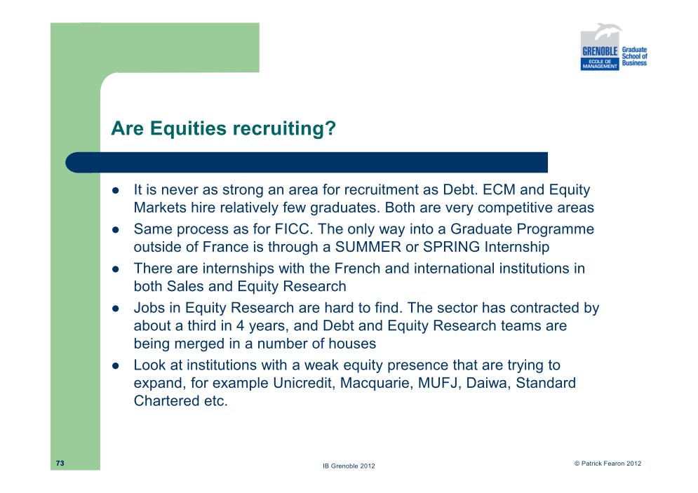 Investment Banking Curriculum