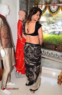 Actress Neetu Chandra Stills in Black Saree at Designer Sandhya Singh's Store Launch  0045.jpg
