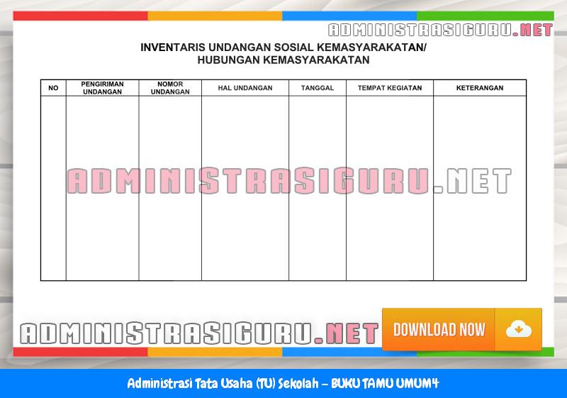 Contoh BUKU TAMU UMUM Administrasi Tata Usaha Sekolah Terbaru Tahun 2015-2016.doc