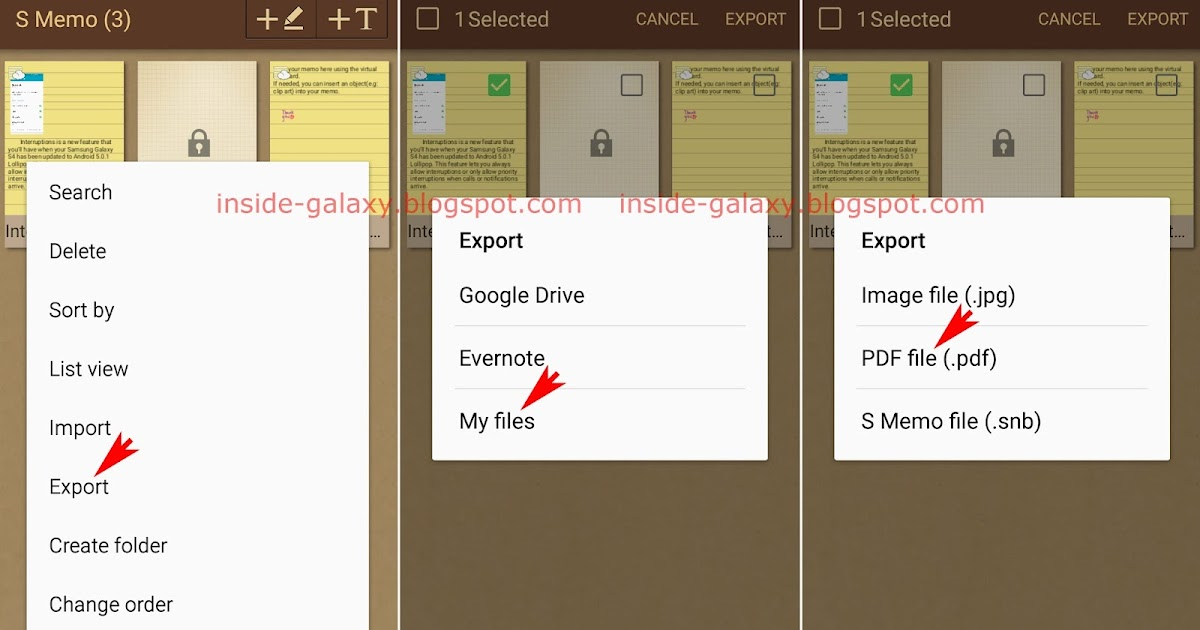 Samsung Galaxy S4: How to Export Memo as PDF File in S Memo