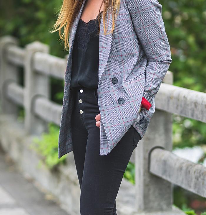 Cuadros,blazer,Total Look , estilo,StreetStyle, Personal Shopper ,Lucía Díez.