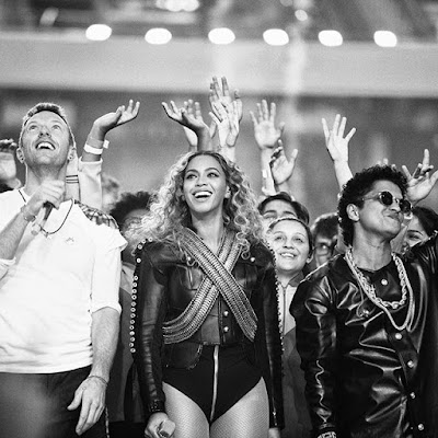beyonce coldplay and bruno mars at superbowl