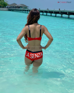 Neha Malik in Red Bikini Beautiful Actress Model Sizzling Spicy Bikini Pics .XYZ Exclusive 18