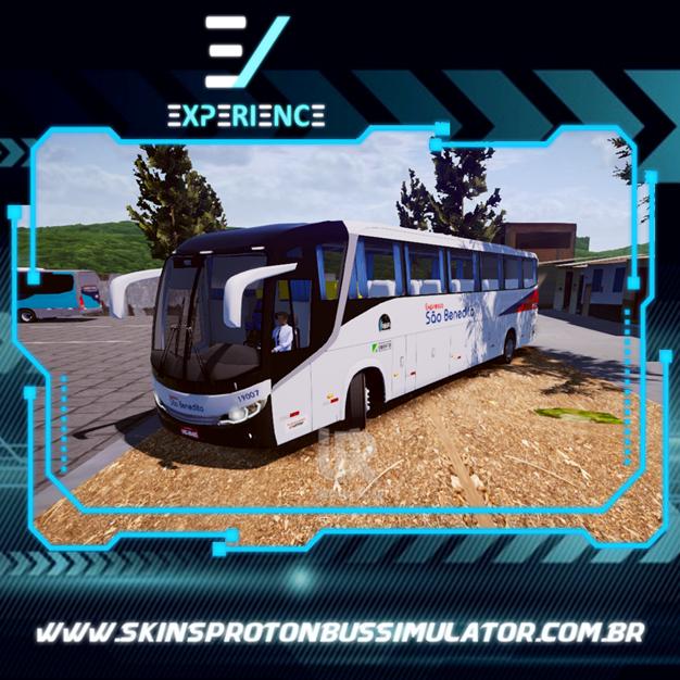 Skins Proton Bus Simulator Road - Comil Invictus MB O-500 RS Expresso São Benedito