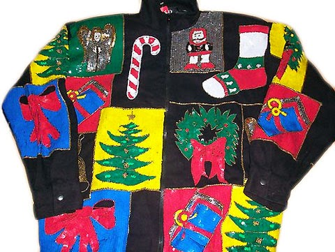 2 Person Christmas Sweater.Happy National Ugly Christmas Sweater Day