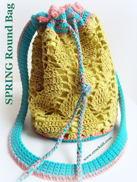 how to crochet, crochet patterns, bags, round, tote, lace, shoulder, bucket,