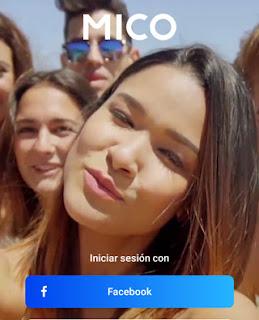 Como iniciar sesion en Mico con Facebook Dating App