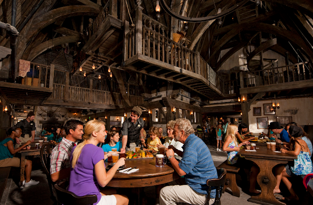 Restaurantes no Port of Entry no Islands of Adventure em Orlando