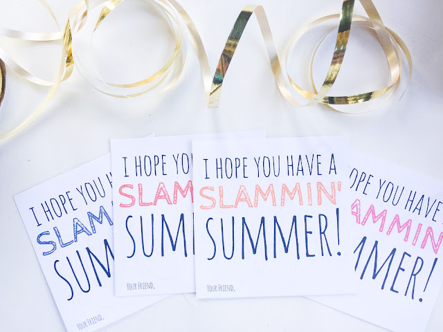 Fun printable for the end of the school year. Great way to kick off summer with a treat!