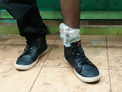 Detento com tornozeleira de monitoramento adulterada é flagrado por policiais militares
