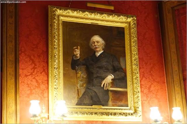 Fotografía de Allard en la Biblioteca de la Mansión The Elms en Newport