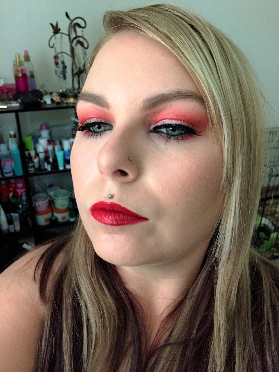 Red Makeup Look