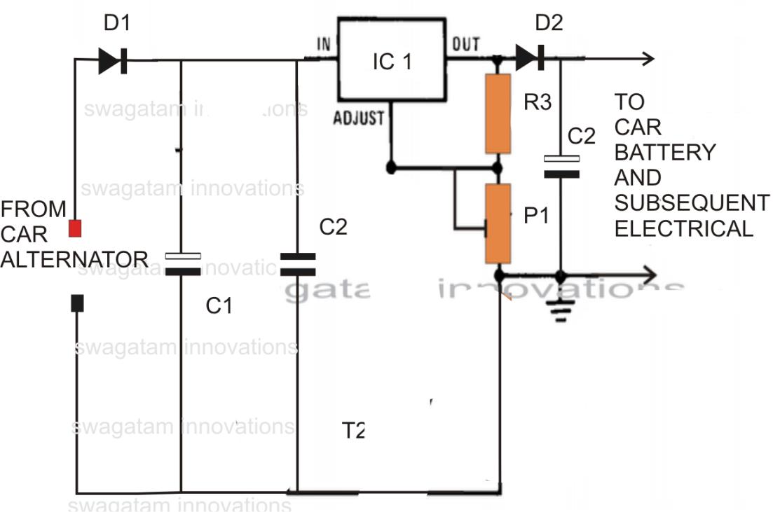 Voltage Regulator Circuit 12v Dc Wiring Diagram To 6v Converter With 7805 Download
