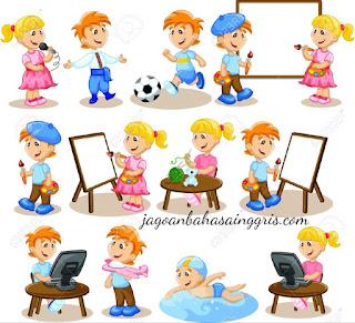 beserta Contoh Dialog dan Soal Latihannya Materi 'Hobby' (Kegemaran) beserta Contoh Kalimat dan Soal Latihannya