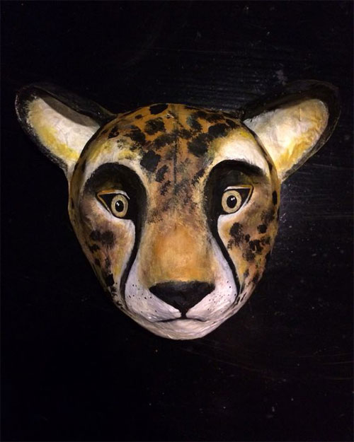 My owl barn paper mache animal taxidermy for Diy paper mache owl