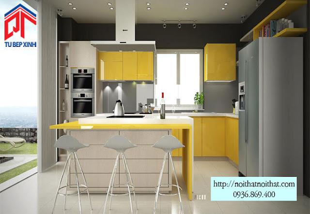 Vì sao tủ bếp Acrylic được ưa chuộng nhất hiện nay?