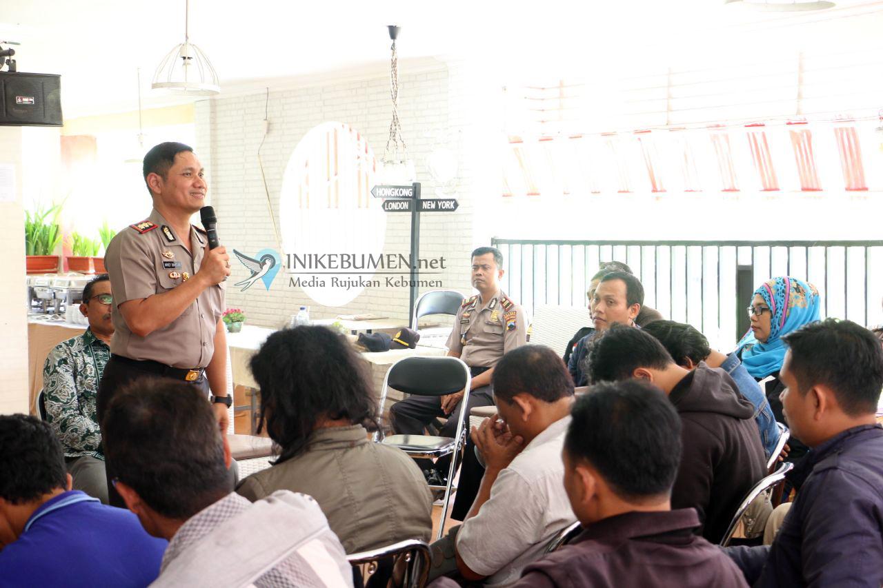 Temu Sapa Kapolres Kebumen dengan Wartawan dan Pegiat Medsos Berlangsung Hangat