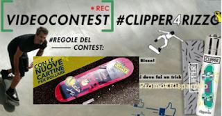 Logo Vinci gratis 9 premi con gadget e Tavola da Skate con Clipper Rolling Paper