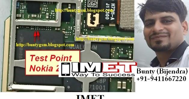 Nokia 2 TA-1029 Test Point For Flashing EDL Mode Ways - IMET