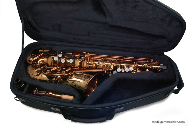 Viking Valkyrie Alto Saxophone Review Case open