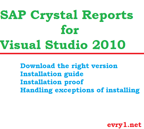 Crystal Reports for Visual Studio 2010
