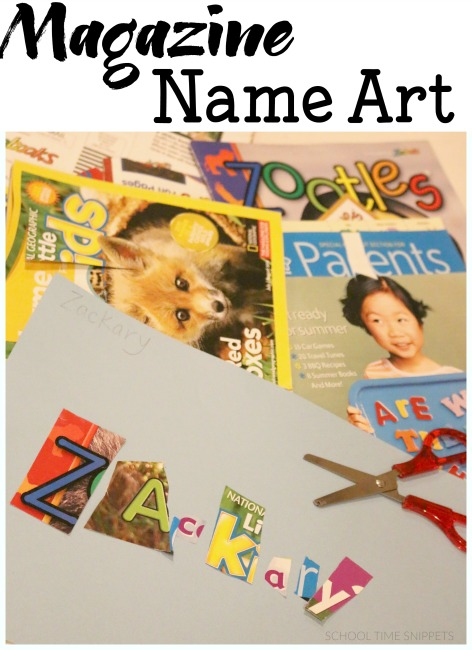 Name Art Collage Great Way To Recycle Magazines