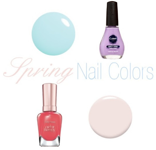 Spring Nail Colors I'm Wearing