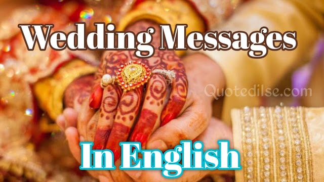 Wedding Messages In English