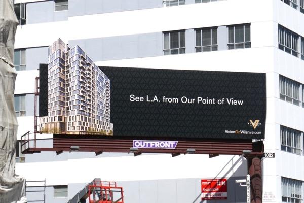 Vision Wilshire Apartments property billboard