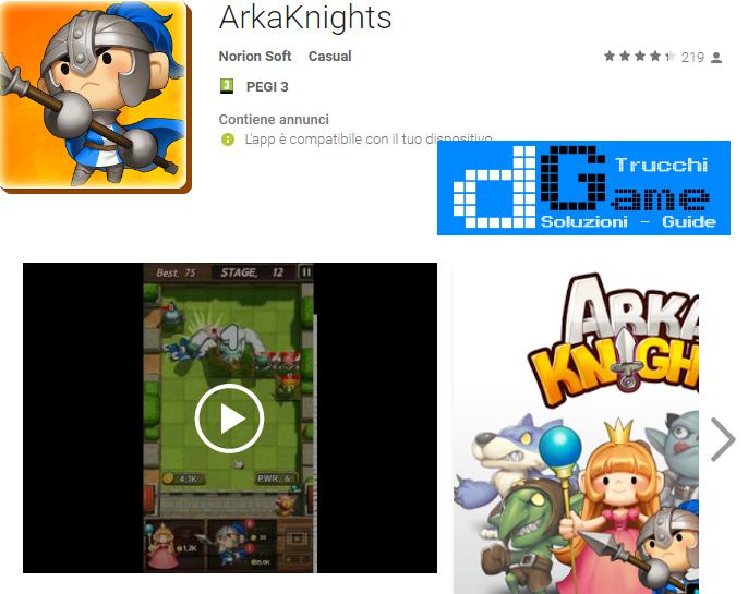 Trucchi ArkaKnights Mod Apk Android v1.2