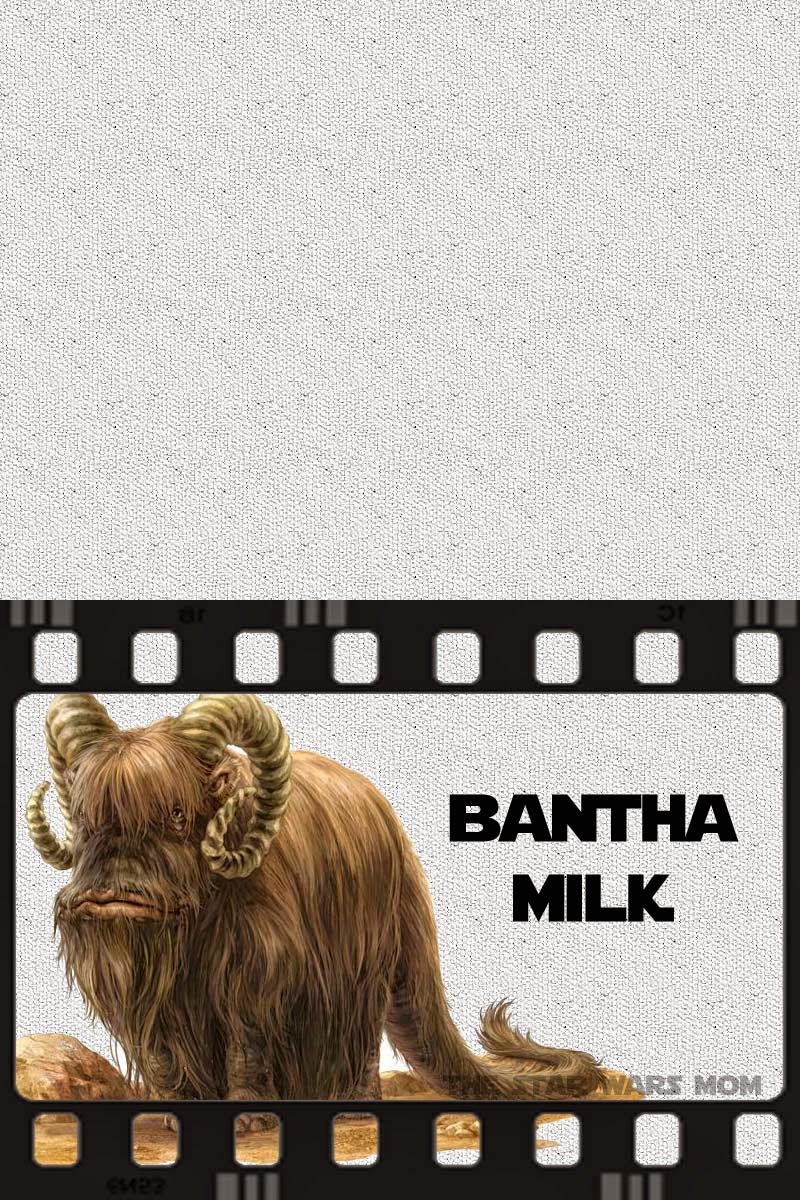 Star Wars Party Food Label or Sign - Bantha Milk