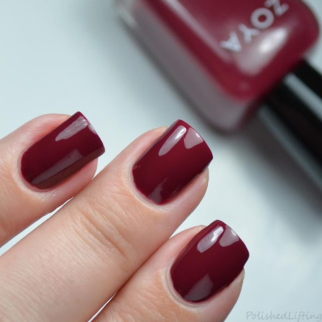 bordeaux red creme nail polish