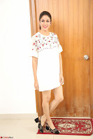 Lavanya Tripathi in Summer Style Spicy Short White Dress at her Interview  Exclusive 304.JPG