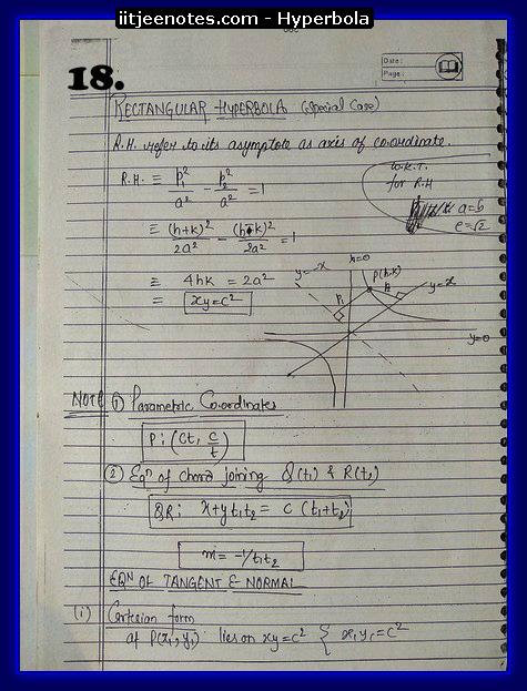 hyperbola notes9