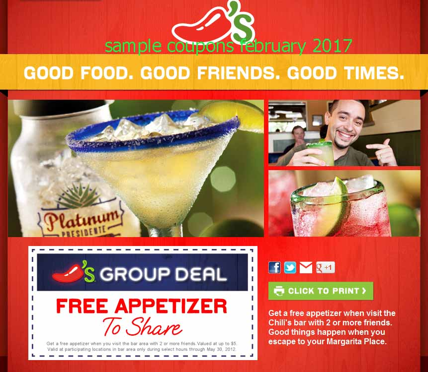Chilis coupons december 2018