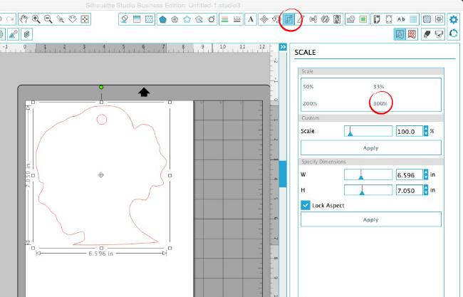silhouette cameo, scale tool, silhouette studio designs, silhouette studio tutorials