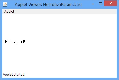 Java Applet Parameter Example