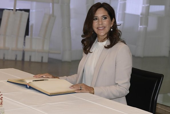Danish business delegation. Crown Princess Mary wore Massimo Dutti Pantsuit and Isabel Marant blouse.