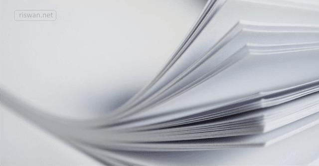 Mengenal Macam-Macam Ukuran Kertas