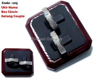 Cincin Tunangan | Cincin couple | Bahan Titanium Free Ongkir dan Box