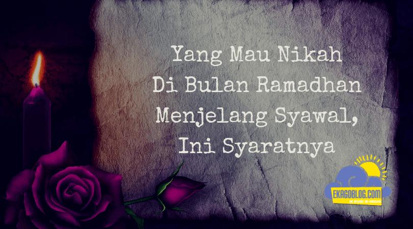 syarat nikah di kua, syarat nikah dalam islam, syarat nikah duda atau janda